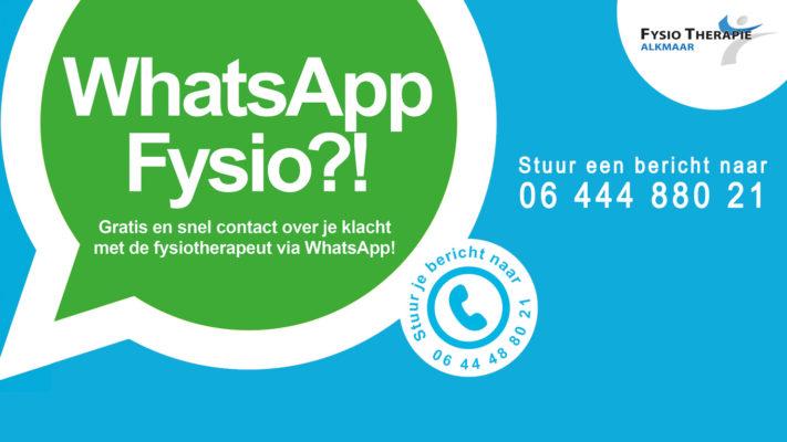 Whatsapp fysio contact